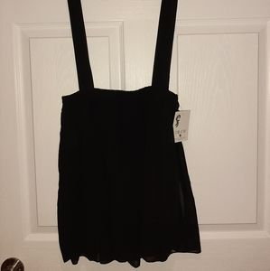 Dresses & Skirts - Black skirt with attached suspender feature size S